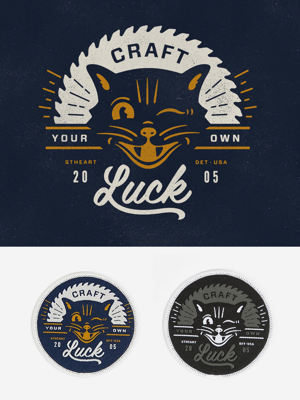 Craft_detail #luck #branding #cat #craft #vintage #logo