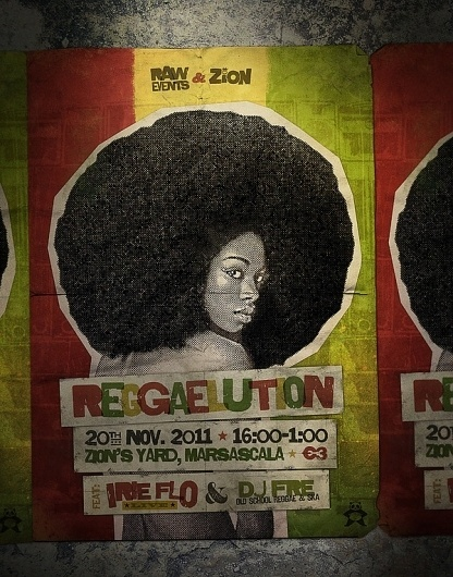 Raw Events Posters on the Behance Network #reggae #zion