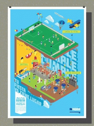 omaigod #isometric #argentina #graphic #geometric #illustration #colors #poster #party