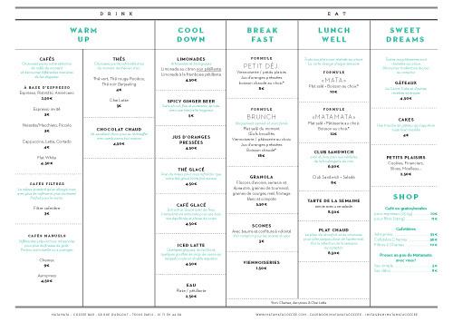 Matamata #menu #identity #food #print #france