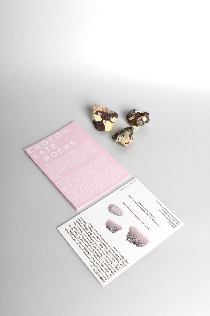 chocolate rocks new packaging design package branding amsterdam pink minimal beautiful design by designblog inspiration www.mindsparklemag.c