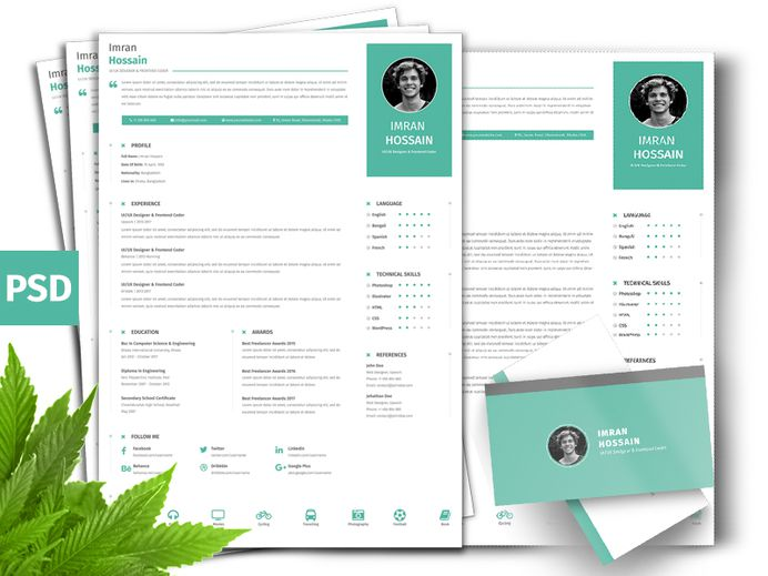 Clean Professional CV - Free Clean Professional Resume + Business Card