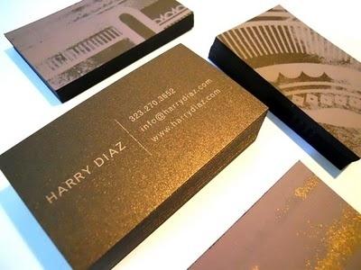 Harry Diaz Blog: 2011 Screen Printed Business Cards