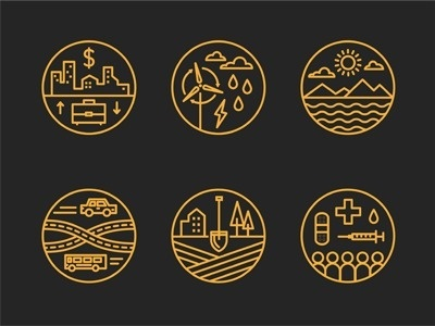 Dribbble - Data Icons by Brad Woodard #icon #illustration #icons #iconograpy