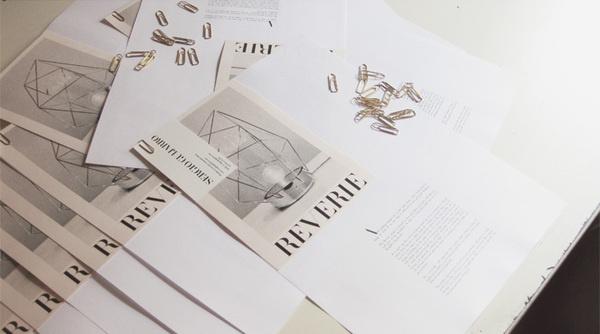 Reverie Press Kit by Madrid-based designer Sergio Guijarro #guijarro #design #graphic #book #product #reverie #art #logo #layout #sergio #typography