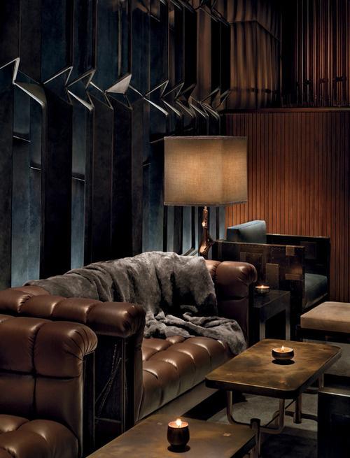 The Grand Hotel: The Bourgeois Dream of an Aristocratic Castle #grand #castle #design #interiors #architecture #leather #hotel #dark #luxury