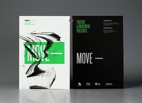 Theatre Movement— Theatre Producers | Calendar — Branding & Graphic Design Bureau #move #black #green