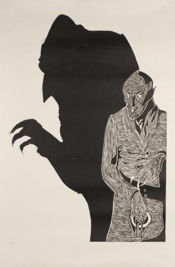 Nos Worries #woodcut #adno #printmaking #nosferatu #big #mike