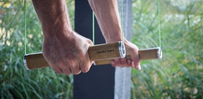 Minimalist Design Makes All the World a Gym #exercising #design #equipment #training #gym #wood #sticks #minimalist