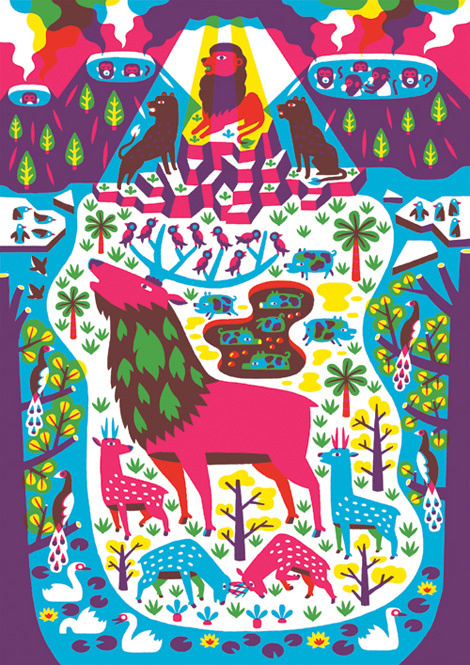 Till Hafenbrak via grainedit.com #illustration #nature #deer #wildlife