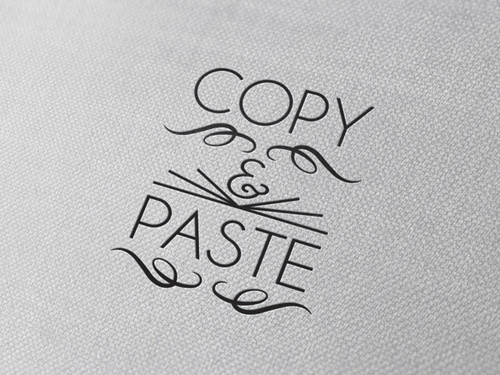 Typography(Copy and Paste, viabetype) #typography
