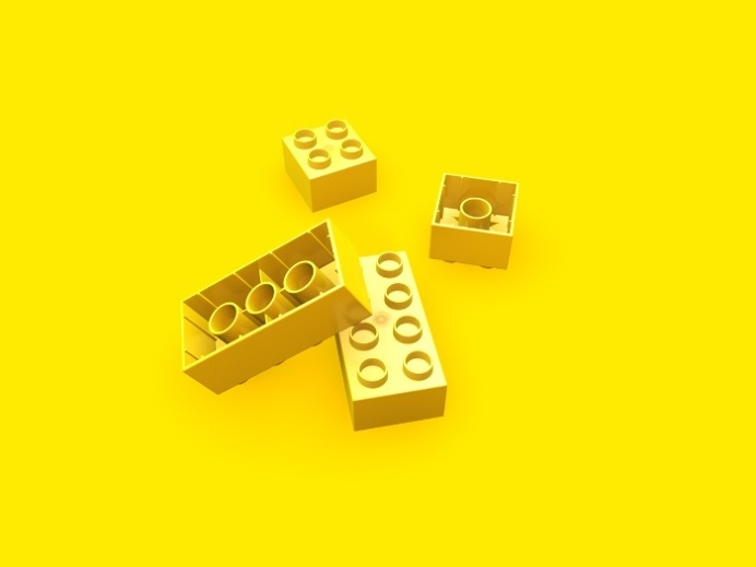 Duplo Yellow Art Print at Søciety6 #duplo #lego #rickardarvius #society6 #artprint #ilovelego