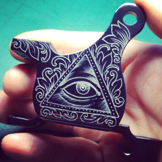 Custom Tattoo Machines by Xam #engraving #illustration #tattoo