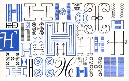 H, Embroidery Letterforms, Present and Correct