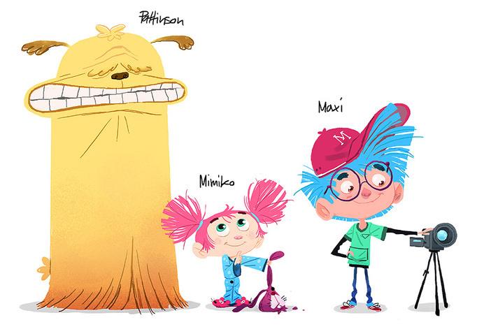 Jullian Rossire - Maxi & Mimiko #design #character