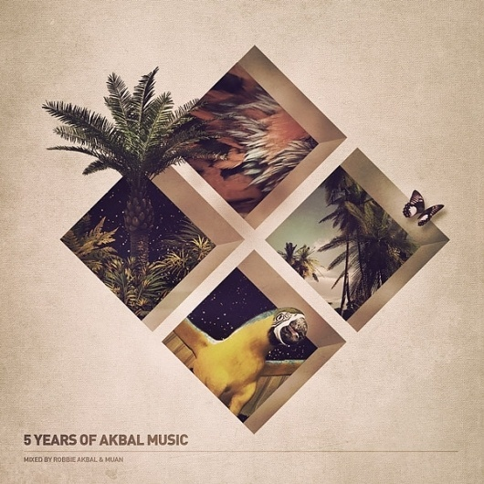 5 Years of Akbal Music on the Behance Network #album #tropical #art #music #collage #party