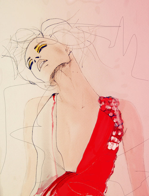 Atmosphere Fashion Illustration Art Print // Limited Edition #fashion #illustration #art