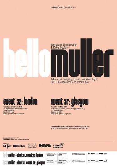 Muller — LongLunch Poster #hellomuller #poster