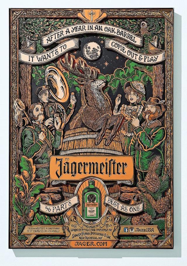 56parts-1 #illustration #alcohol #puzzle #jã¤germeister