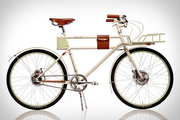 Faraday Porteur Bike | Uncrate #bicycle #design #leather #vintage #bike