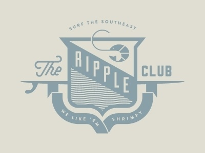 Dribbble - Surf the Southeast by J Fletcher Design #vintge #logo #illustration #banner