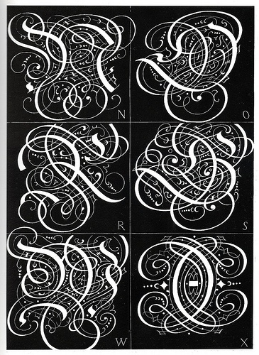 BibliOdyssey: Ornamental Typography Revisited #letters #initials #15th #ornamental #century #monograms #alphabets #typography