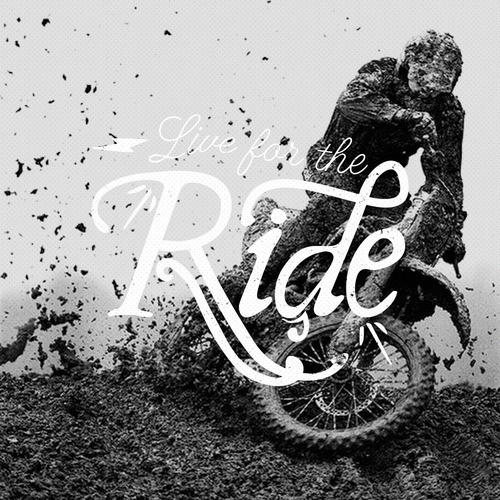 Live for the Ride #typography #lettering