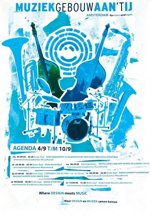5438806360_387abfb0af_b.jpg 717×1.024 pixels #water #jazz #poster #amsterdam #music #typography