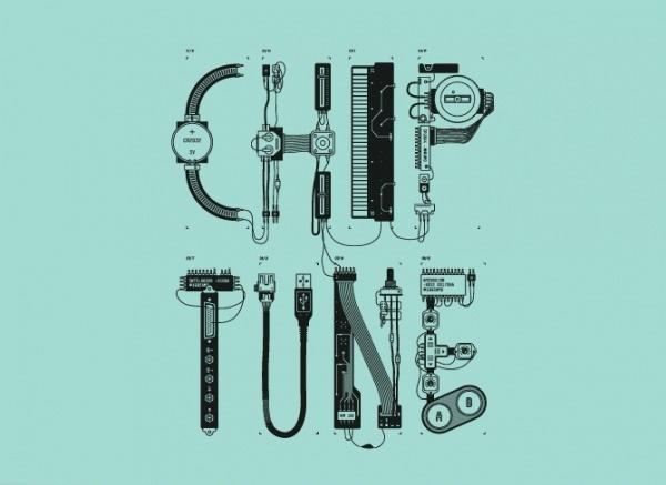 Chiptune — Technology Workshop | Calendar — Branding & Graphic Design Bureau #tipografia #electronic #chip #typography