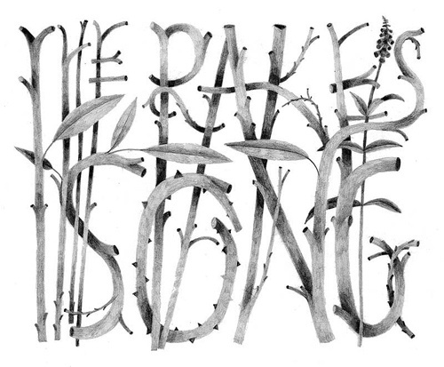 Carson Ellis | Portfolio | The Rake's Song #typography