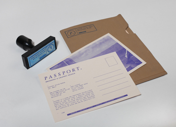 Passport Identity #stamp #branding #print #letterpress #identity #passport #postcard #folder