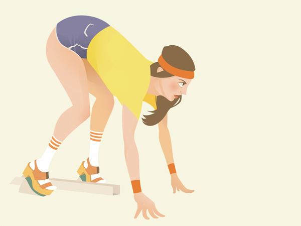 Summer Olympics 1 on Behance #runner #athlethe