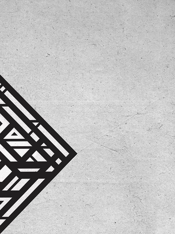 Organic Rhombus #geometry #design #blaqk #posters #symmetry #greece #patterns #simek #athens