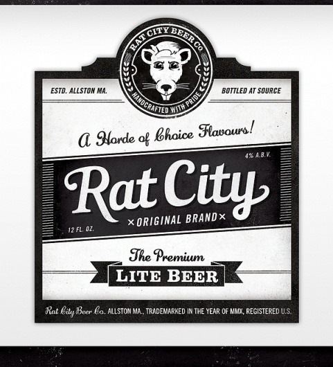 Rat City Beer Co. on the Behance Network
