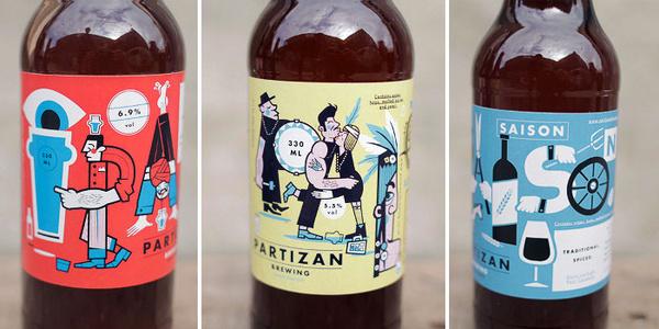 Partizan Brewery #packaging #beer