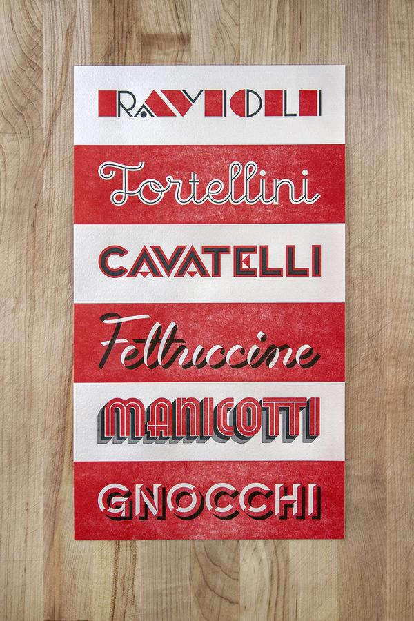 Naomie Ross & Daniel Renda: Pastosa / on Design Work Life #lettering #red #branding #pasta #typography