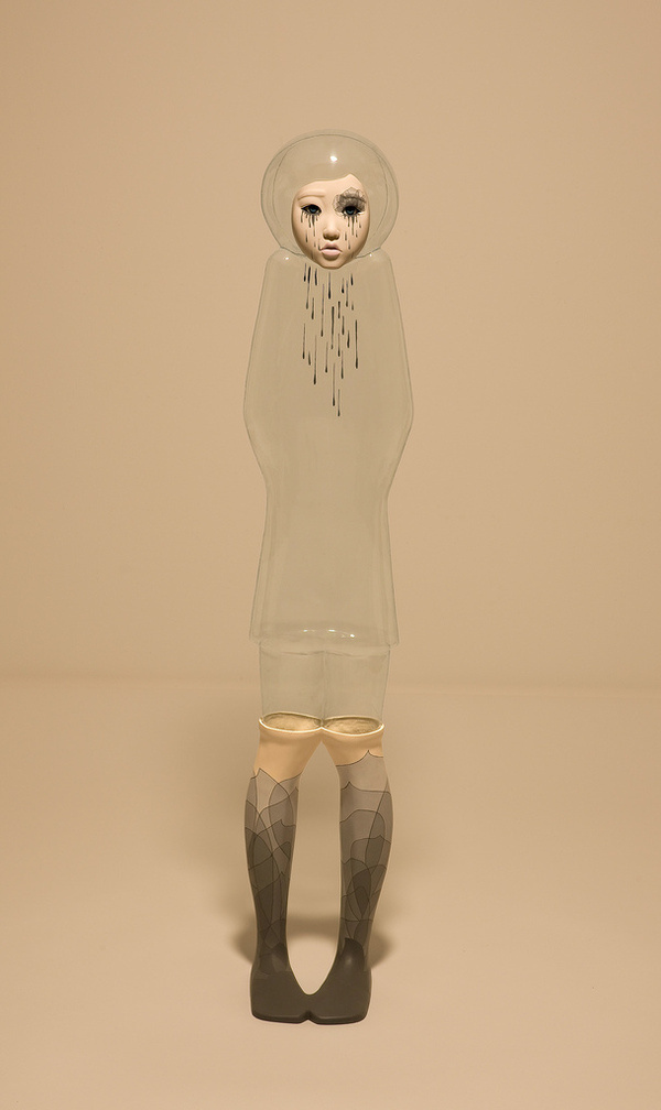 "On View: Yu Jinyoung's ""I'm OK"" at Galleria Patricia Armocida | Hi Fructose Magazine #socks #girl"