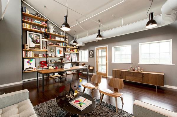 Mattson Creative Office SND CYN | Miss Design #interior #loft #bookshelves #workplace #office #design #coworking #workspace