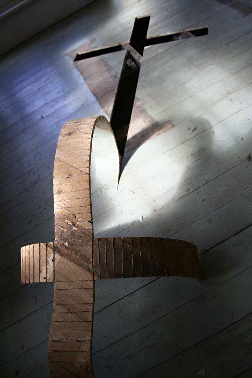 wood sculptures #cross #sculptures #art #installation