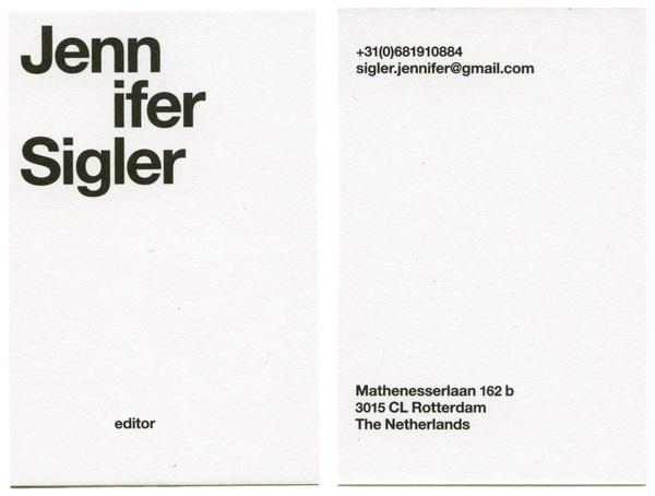 almost Modern : Jennifer Sigler #card #business #stationery