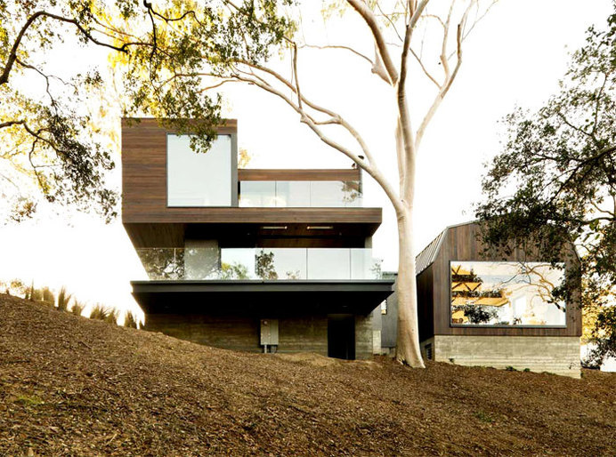 Calm, Natural and Open Guest House dark wood facades guest house #architecture #house #house design #home design