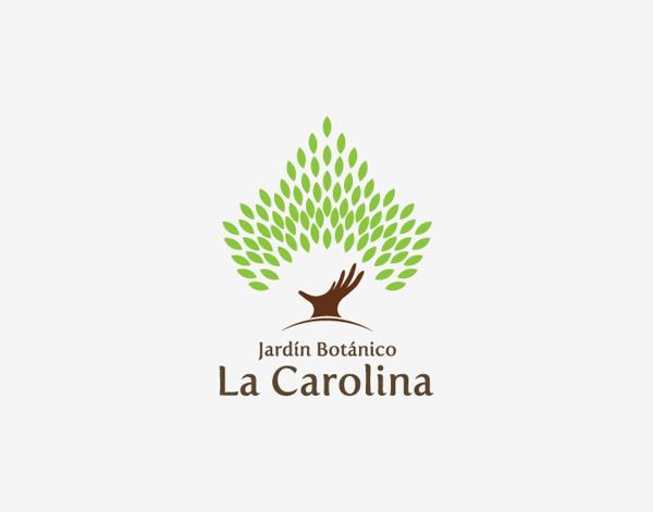 Jardxc3xadn Botxc3xa1nico la Carolina #logotype #logos #branding #tree #identity #logo #layout #hand