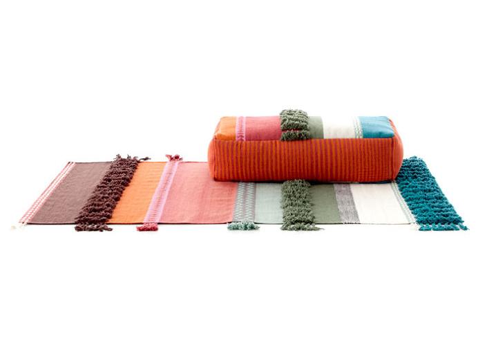 Handmade Poufs, Cushions and Carpets by Gandia Blasco - #textile, #design, #fabrics, #patterns
