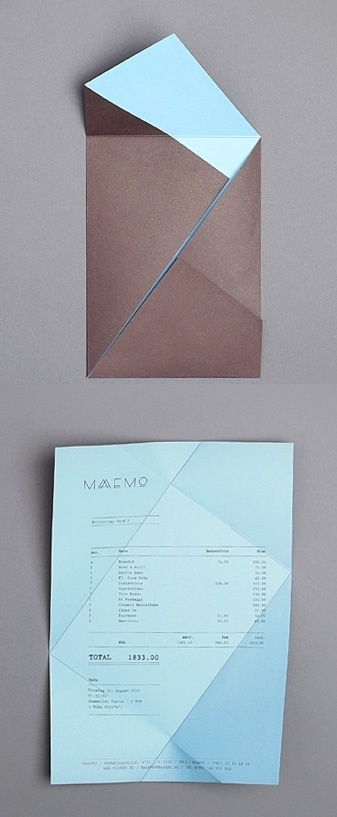 folding receipt, Maaemo identity by Bureau Bruneau #folding