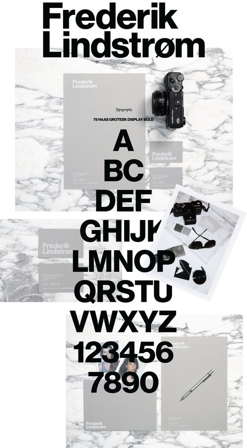 Frederik Lindstrom by Brunswicker #helvetica #grotesk #identity #haas