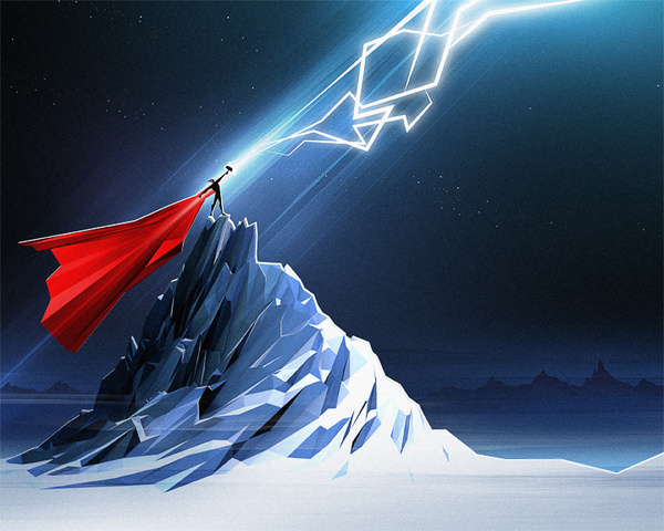 Thor_bg #thor #illustration #thunder #marvel #god #comics