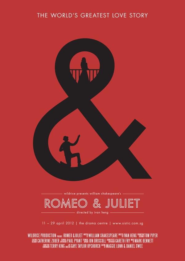 Romeo & Juliet Poster Series 1 #design #typographic #poster #singapore #typography