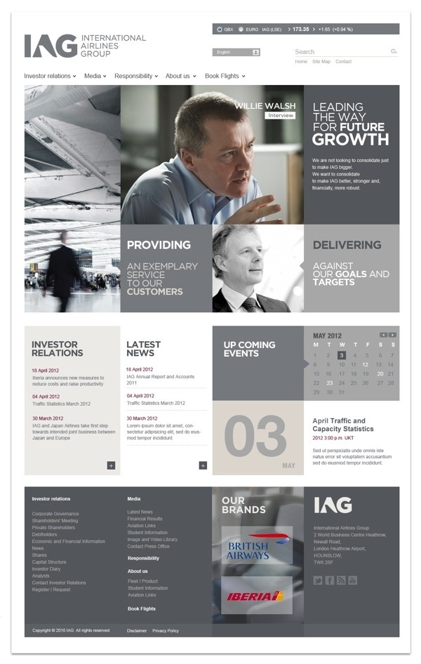"IAG corporate website (2012) with ""Intermark Tecnologias"" #design #web #ux #ui"