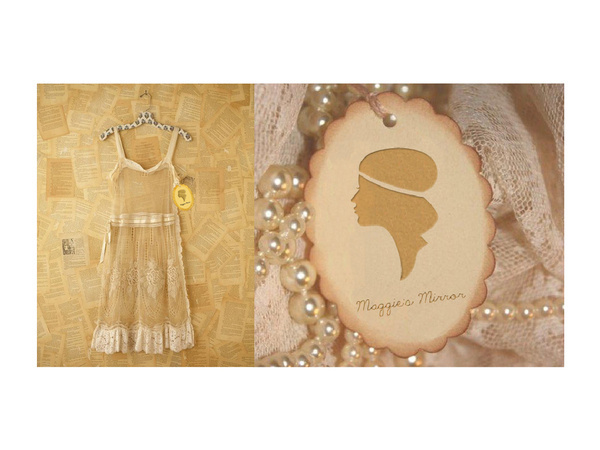 Maggie's Mirror #branding #maggies #store #mirror #tag #vintage