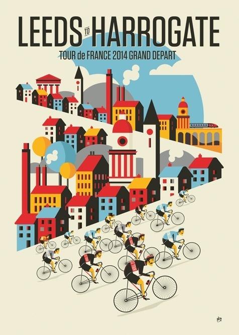 Tour de France Stage 1By Neil Stevens #illustration